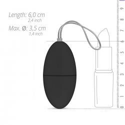 Easytoys - 7 ritmusú rádiós vibrációs tojás (fekete)