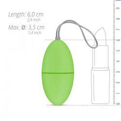 Easytoys - 7 ritmusú rádiós vibrációs tojás (zöld)