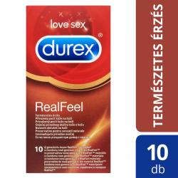 Durex Real Feel - latexmentes óvszer (10db)