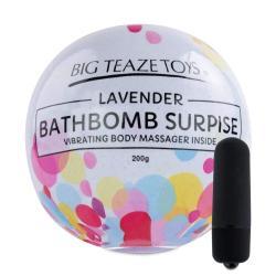 Big Teaze Toys - fürdőbombába rejtett minivibrátor (levendula)