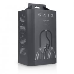 Saiz Premium - dupla mellpumpa - kicsi (áttetsző-fekete)