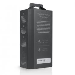 Saiz Premium - automata vaginaszívó pumpa (áttetsző-fekete)