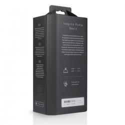 Saiz Basic - vaginaszívó pumpa (áttetsző-fekete)