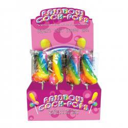 Rainbow Cock Pop - színes péniszes nyalóka (85g) - gyümölcsös