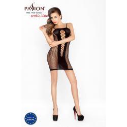 Passion BS027 - extrém hálós, necc miniruha (fekete) - S-L