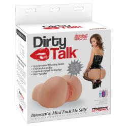 Mini Iteractive Fuck Me Silly - nyögő popsi maszturbátor (natúr)