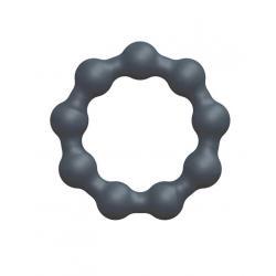 Dorcel Maximize - gömbös, szilikon péniszgyűrű (szürke)