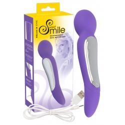 SMILE Wand - Dupla motoros masszírozó vibrátor (lila)